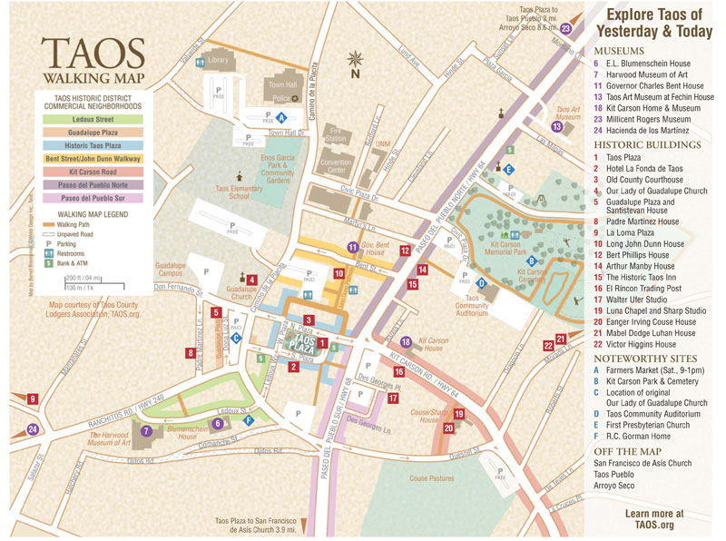 Taos Walking Map